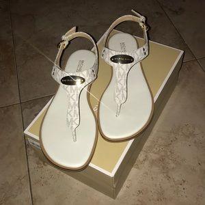 NEW Mini MK Logo PVC Plate Thong Sandals